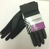 Impressions By Isotoner Dress Smartouch Technology Gloves Women's Black/Gray