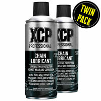 XCP Motorcycle Motorbike Chain Lube Aerosol Spray 2 x 400ml (Twin Pack)