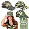 CAPPELLINO BERRETTO MILITARE ARMY CAPS CAPPELLO CAMO MIMETICO PESCA CACCIA GREEN