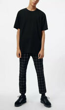 Mens Weekday Windowpane Checked Cropped Trousers - 50 EU
