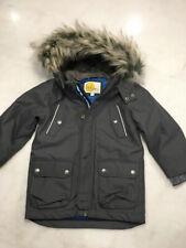 Boden Boys Winter Jacket Parka size 3-4 years Fur Trim Hood (S9)
