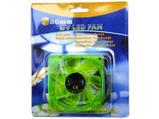 80MM UV REACTIVE BLUE LED GREEN / GREEN COMPUTER CASE COOLING FAN S8-08-UV/GO