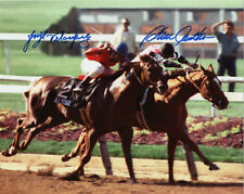 Affirmed  / Alydar Belmont Stakes #408 Dbl Signed 11x14 S. Cauthen J. Velasquez