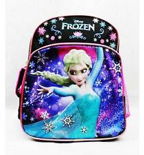 """NWT Disney Frozen Mini 10"""" with Elsa School Backpack Bag Black Very Limited"""