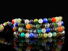 259.05 CT NATURAL MULTI GEMS PRAYER MALA MULTICOLOR 108 BEADS NECKLACE - GEM EDH