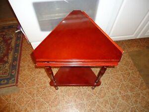 "Powell Triangle 3 Leaf Folding Round Table good shape 25.5"" high"
