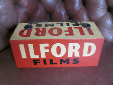 original & rare 1950's ILFORD FILM tin photography shop DISPLAY SIGN - v.g.c
