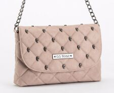 "WOMEN'S ""QUILTED SKULL"" CROSSBODY BAG BY ROCK REBEL (BLUSH)"