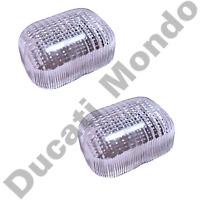 Pair clear indicator lens Cagiva Mito Ducati 748 916 996 998 Monster Aprilia SR