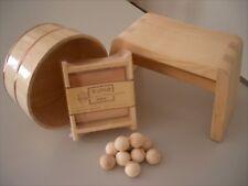 Hinoki Oke Bathtub 4 Set Chair Soap Stand Bathroom Pure Wood Ball Cypress Japan