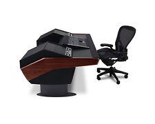 Argosy G22 Desk SSL Nucleus G22-NUC-RR9-B-M-G | Mahogany Trim Gunmetal Gray Legs