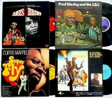 JAMES BROWN Fred Wesley CURTIS MAYFIELD Don Julian BLAXPLOITATION 4 lp LOT