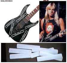 Jeff Hanneman guitar decal Custom B.C.Rich signature vinyl stickers Full Set 7