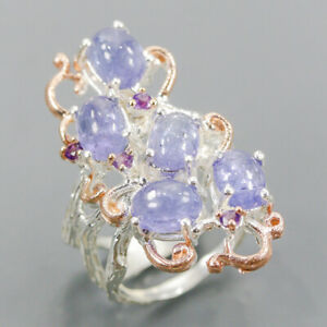 Jewelry Handmade Tanzanite Ring Silver 925 Sterling  Size 6.5 /R164136