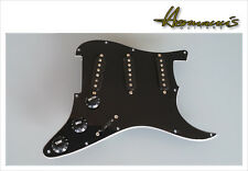 FULL LOADED Stratocaster battipenna, nero con Alnico 5 PICK UPS Top 60s Sound