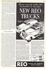 1935 REO Speed Wagon Panel & Stake Body Truck Art vintage promo print ad