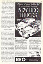 1935 REO Speed Wagon Panel & Stake Body Truck Art vintage promo print ad