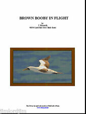 BROWN BOOBY IN FLIGHT - cross stitch chart