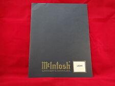 McIntosh LS340 Loudspeaker System Owners Manual
