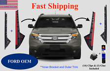 2011-2019 Ford Explorer Windshield Outer AND Inner Trim Right & Left Side+Clips