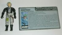 1988 GI Joe Phantom Ghostrider X19 Stealth Fighter Pilot v1 w/ Uncut File Card