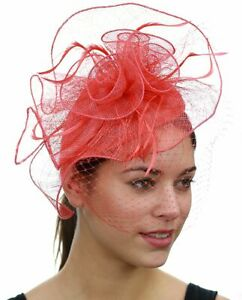 C.C Women's Elegant Cocktail Fashion Mesh Small Sinamay Fascinator Headband