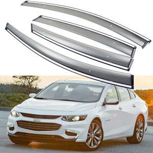 1Set Window Vent Visor Deflector Shade Sun/Rain for 2016-2020 Chevy Malibu Sedan