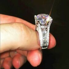 3.00 Ct Genuine Moissanite Engagement Ring Wedding Band Sets 14k White Gold