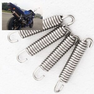 4pcs Expansion Chambers Springs Exhaust Pipe Spring Hooks 40mm for Motorbike