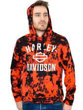 Harley-Davidson Mens Hi-Vis Safety Orange Sublimated Pullover Hoodie Sweatshirt