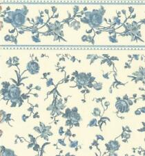 Dolls House Raffina Blue Rose Miniature Print 1:12 Scale Wallpaper 3 Sheets