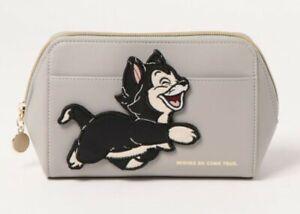 Disney Pinocchio Figaro Cleo Makeup Pouch Cosmetic Case Bag Purse Japan Z7988