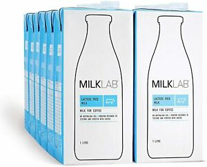 12x1L MilkLab - 100% Australian Lactose Free Café Quality Barista Long Life Milk