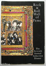 HENDRIX, CASH, 7th Rock & Roll Hall of Fame 1992 Program SIGNED by NOEL REDDING!