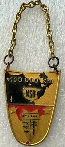 NSU 100.000 km Logo Emblem Symbol Automobile Plaque Metall Badge