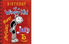 PERSONALISED DIARY OF A WIMPY KID BIRTHDAY CAKE TOPPER A4 ICING SHEET anyNAMEage