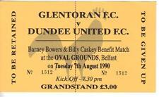 1990/91    Glentoran     v     Dundee Utd    Benefit    Complete   PERFECT