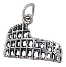 Roman Colosseum Charm Sterling Silver Italy Rome Pendant with a Split Ring