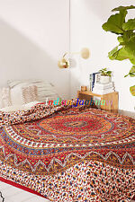 Indian Star Mandala Cotton Tapestry Bedspread Handmade 100% Bedding Blanket Gift