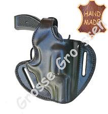 Revolverholster UNIVERSAL-f. kleine Revolver(S&W 36)- Schwarz- Leder- Handarbeit