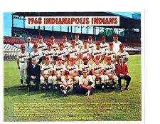 1968 Indianapolis Indians 8X10 Team Photo Zimmer Pcl Indiana Baseball