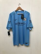 Nike Men's Manchester City FC 2017/18 Home Shirt - XXL - Sky Blue -New