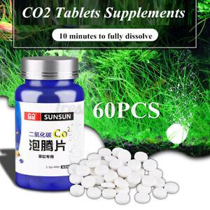 60Pcs CO2 Tablet Carbon Dioxide Diffuser for Aquarium Water Fish Tank Plan