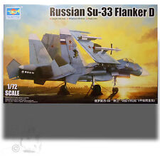 TRUMPETER 1/72 RUSSIAN SU-33UB FLANKER D KIT 01678 w CARRIER DECK DISPLAY