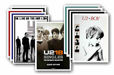 U2  - 10 promotional posters - collectable postcard set # 4