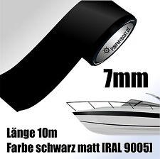 ZIERSTREIFEN 10m SCHWARZ MATT 7mm Auto Boot Jetski Modellbau Vinyl