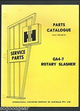 IH INTERNATIONAL GA4-7 ROTARY SLASHER PARTS CATALOGUE