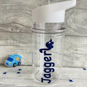 PERSONALISED KIDS WATER BOTTLE Dinosaur Reusable School Small Drinks Bottle