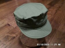 U.S Military Wwii Reproduction Hbt Cap Hat Size X- Large Herringbone Twill