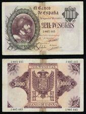 Año 1940. 1000 Pesetas CARLOS I. Sin serie 3005445. CIRCULADO - 2 TROCITOS CELO.